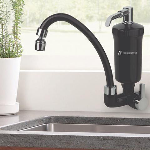 Imagem de Purificador de água com torneira de parede - black - hidro filtros