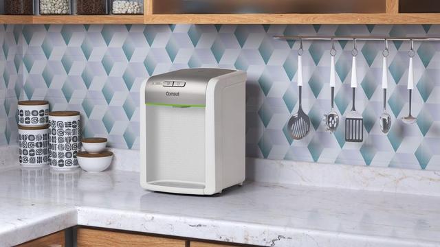 Imagem de Purificador de Água Consul CPB34AS Branco e Prata C/ Eficiência Bacteriológica -  Refrigerado (Bivolt)