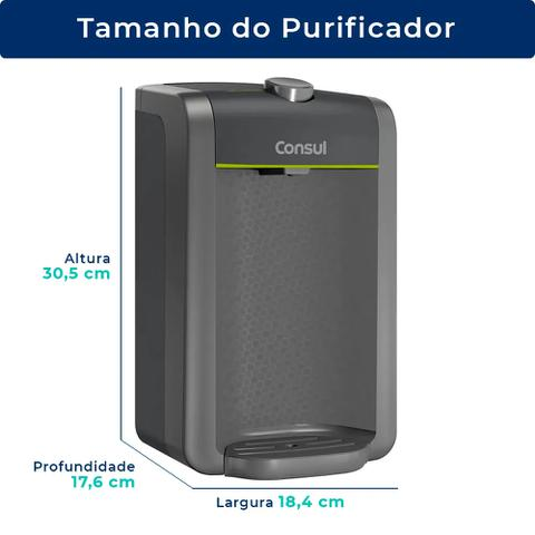 Imagem de Purificador de Água Natural Bem Estar Cinza Consul CPC31AFONA (Não Elétrico)