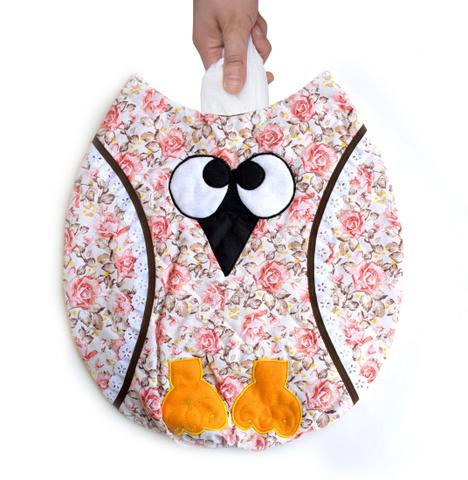 Imagem de Puxa saco estampado corujita floral