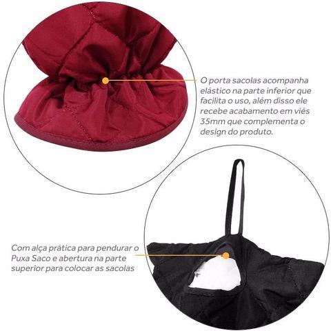 Imagem de Puxa Saco Porta Sacola em Microfibra para Cozinha