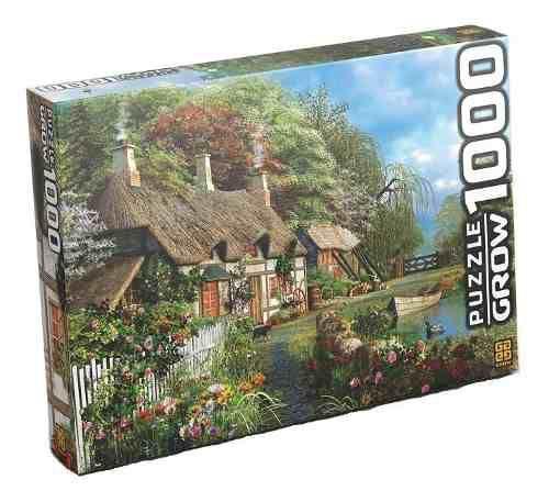 Imagem de Puzzle 1000 Peças Casa No Lago Grow