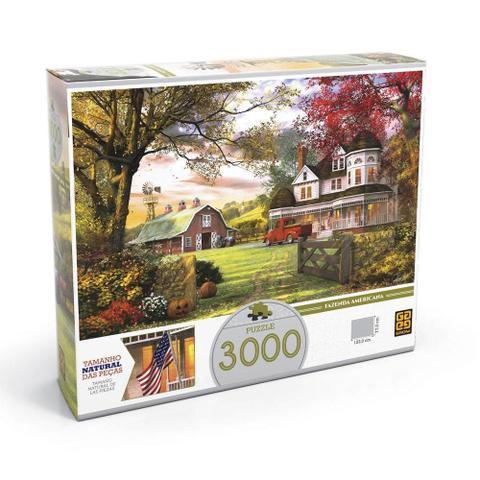 Imagem de Puzzle 3000 Peças Fazenda Americana