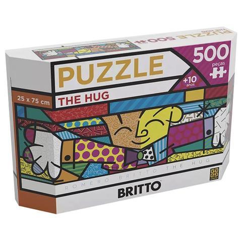 Imagem de Puzzle 500 peças Panorama Romero Britto The Hug - Grow