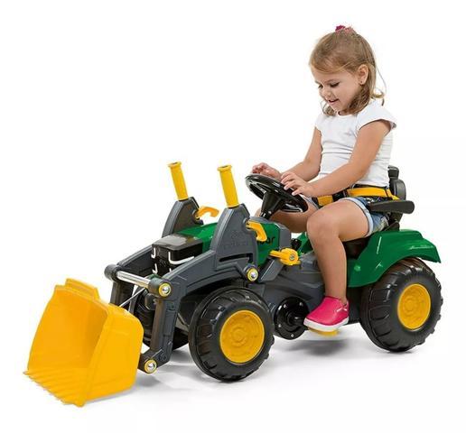 Imagem de Quadriciclo passeio pedal trator infantil grande