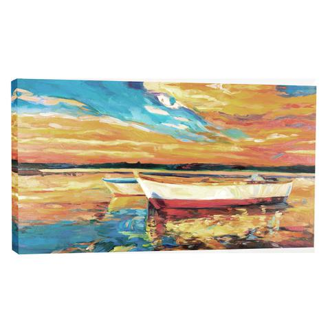 Imagem de Quadro Barco Vermelho 55x100cm