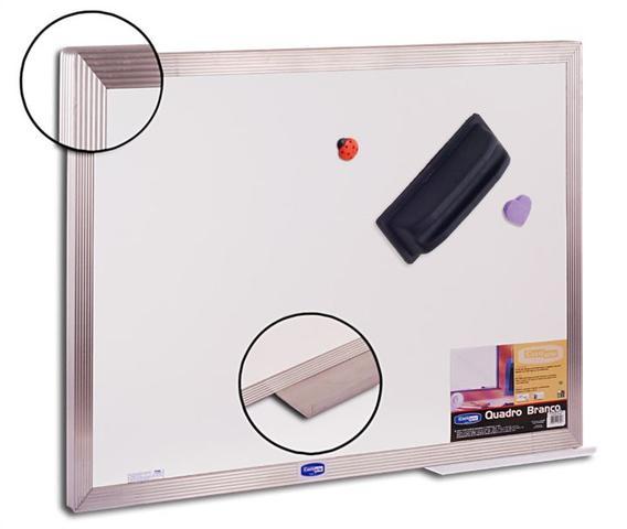 Imagem de Quadro branco magnetico moldura aluminio office 180 x 120 cm + 3 brindes - aruforte