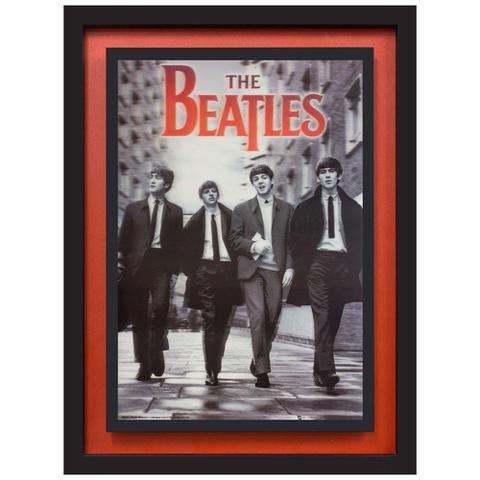 Imagem de Quadro com Moldura Preta 3D The Beatles 65x85cm