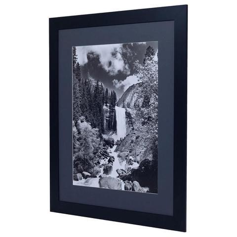 Imagem de Quadro com Moldura Preta Paisagem Natureza em Preto e Branco 90x110cm