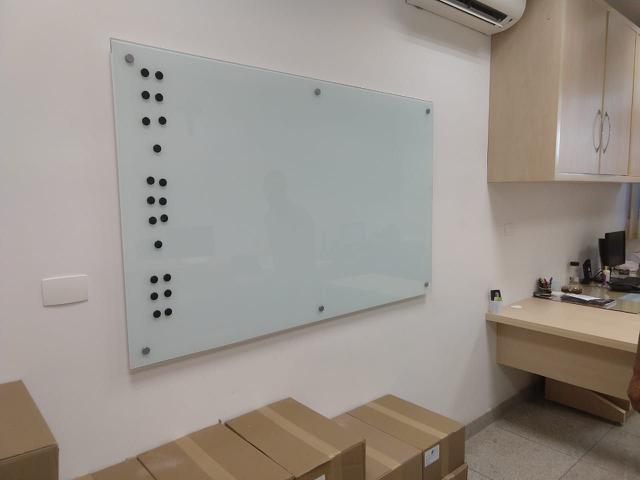 Imagem de Quadro de Vidro Magnético Branco 160x100