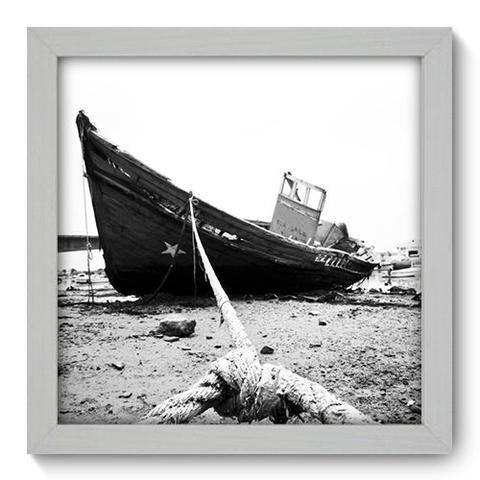 Imagem de Quadro Decorativo - Barco - 22cm x 22cm - 020qnpab
