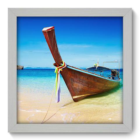 Imagem de Quadro Decorativo - Barco - 22cm x 22cm - 022qnpab
