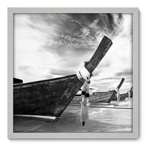 Imagem de Quadro Decorativo - Barco - 50cm x 50cm - 021qnpcb