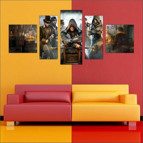 Imagem de Quadro decorativo Games Jogos Assassin's Creed Salas Quartos 5 Peças TT1