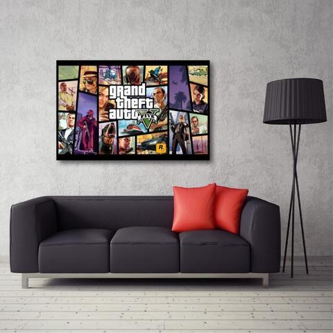 Imagem de Quadro decorativo GTA V - Jogos - Tela em Tecido