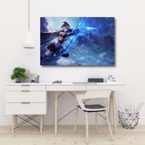 Imagem de Quadro decorativo League of Legends LOL - Jogos - Tela em Tecid