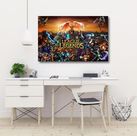 Imagem de Quadro decorativo League of Legends - Tela em Tecido