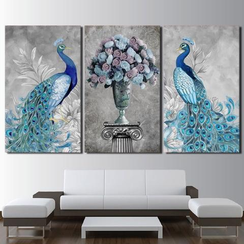 Imagem de Quadro decorativo mosaico 3 peças decoração lar sala quarto copa tamanho grande