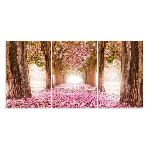 Imagem de Quadro Decorativo Para Sala Árvore Cerejeira Rosa