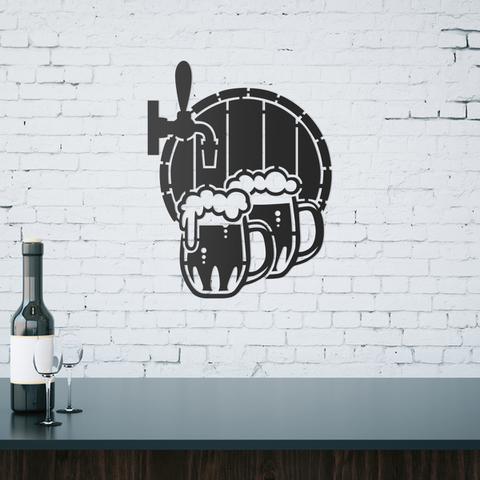 Imagem de Quadro Decorativo Parede Bar Barril De Chopp 60cm
