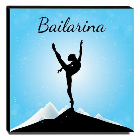 28e0d1c4ff Quadro Infantil Bailarina Canvas 30x30cm-INF183 - Lubrano decor ...