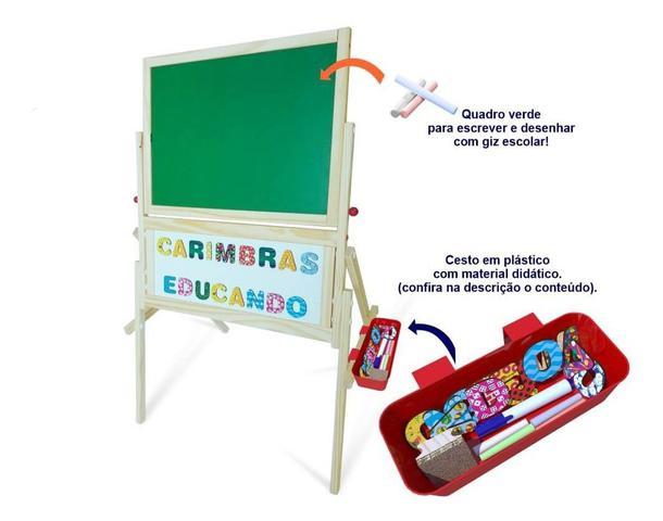 Imagem de Quadro Lousa Infantil Magnetico Educativo Carimbras
