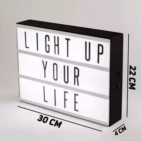 Imagem de Quadro luminária led message light box