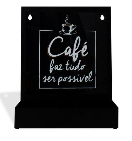 Imagem de Quadro Porta Cápsulas de Mesa/Parede Tudo Possível (Nespresso)