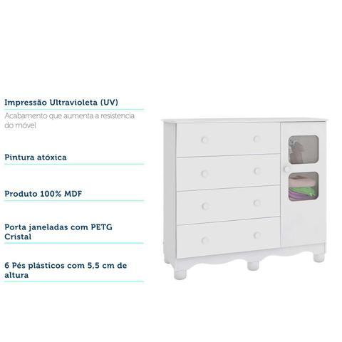 Imagem de Quarto Completo Com Cômoda Uli e Berço Júnior Móveis Peroba