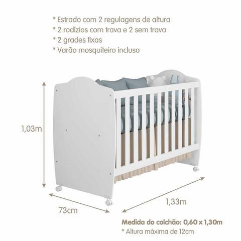 Imagem de Quarto Completo Infantil com Berço Chamego, Guarda Roupa Fofura e Cômoda Fofura Permóbili Móveis