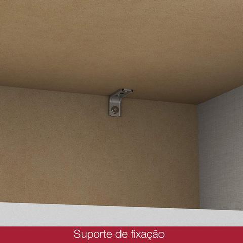 Imagem de Quarto de Bebê com Guarda Roupa 3 Portas Cômoda e Berço Faz de Conta Espresso Móveis Branco/Rústico