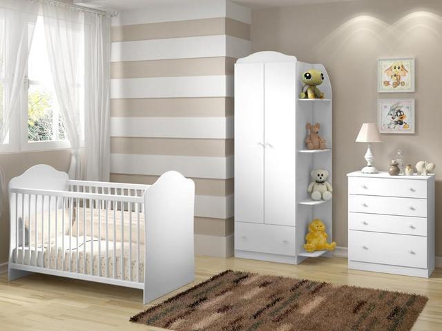 Imagem de Quarto de Bebê Completo com Berço Guarda-Roupa