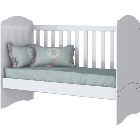 Imagem de Quarto de Bebê Completo com Berço Mini Cama e Cômoda Faz de Conta Espresso Móveis Branco