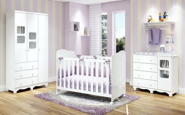 Imagem de Quarto de Bebê completo Uli 100 MDF Peroba Obrigatórias