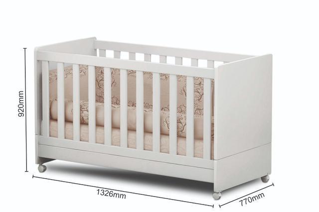 Imagem de Quarto de Bebê Helena Guarda Roupa + Cômoda + Berço Mini Cama - EM Móveis