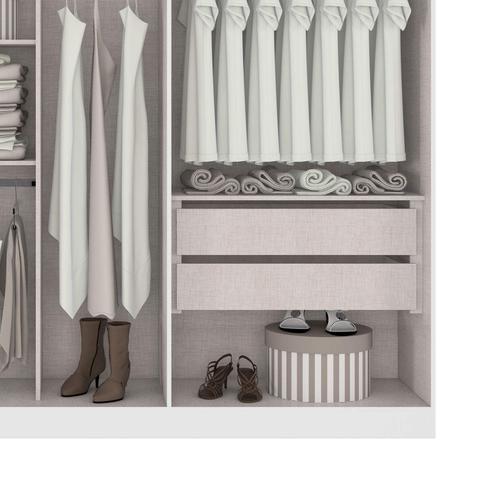 Imagem de Quarto de Casal com Guarda Roupa e Cômoda Castellaro Móveis Lopas Branco