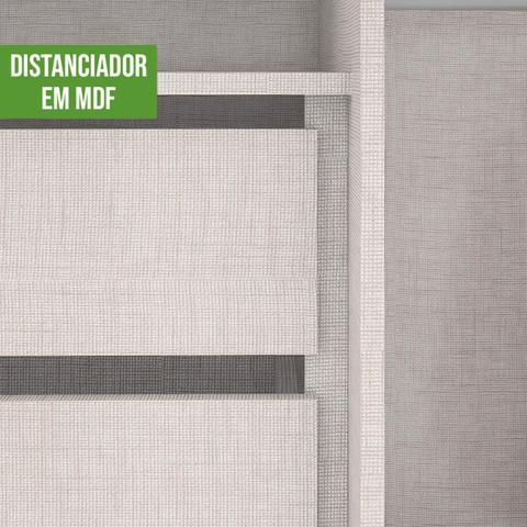 Imagem de Quarto de Casal com Guarda Roupa e Cômoda Castellaro Móveis Lopas Rovere Naturale