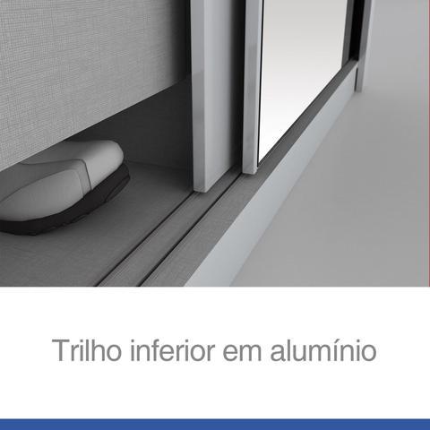 Imagem de Quarto de Casal Completo com Cômoda, Cabeceira e Guarda Roupa Alegro 01  Branco