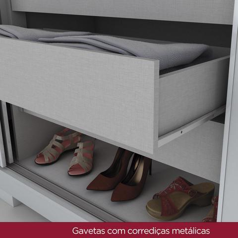 Imagem de Quarto de Casal Completo com Cômoda, Cabeceira e Guarda Roupa Amaro 02  Branco