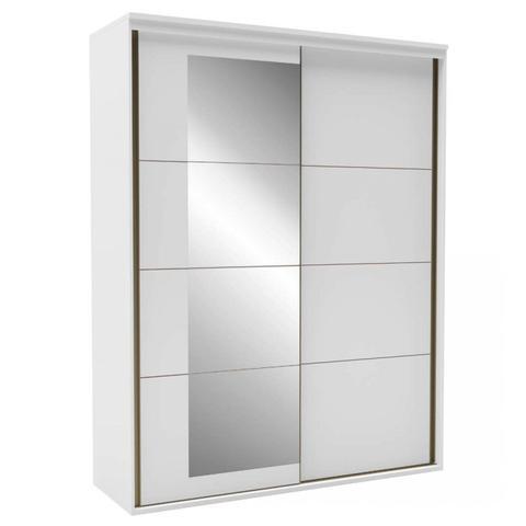 Imagem de Quarto de Casal Completo com Guarda Roupa 2 Portas e Espelho, Cabeceira e Cômoda Eleganza Siena Móveis Branco