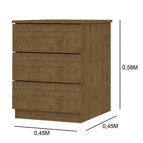 Imagem de Quarto de Casal Completo com Guarda Roupa 6 Portas, Cama e 2 Criados Mudos Siena Móveis Imbuia Rustic