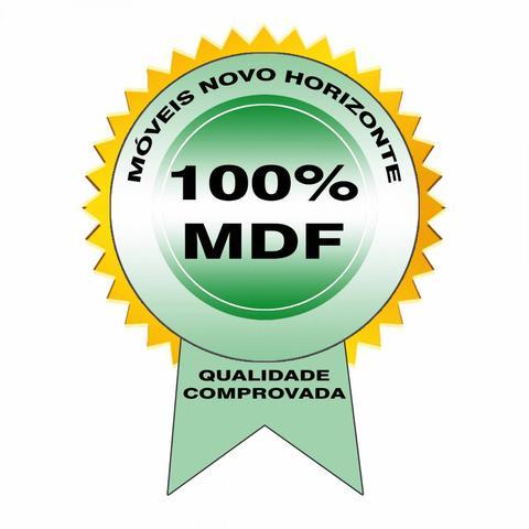 Imagem de Quarto de Casal Completo MadeiraMadeira com Guarda Roupa 3 Portas e Cebaceira com 2 Criadoss Mudos 400885 Canela