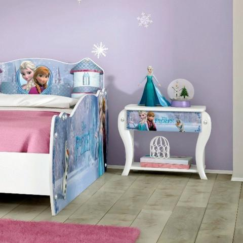 Imagem de Quarto Infantil Completo MadeiraMadeira com Criado Mudo, Guarda Roupa e Cama 404900 Branco/Rosa