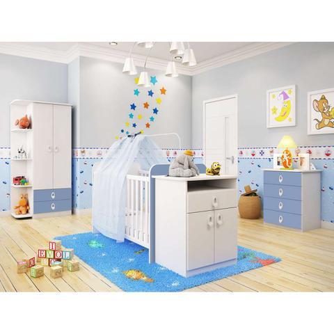 Imagem de Quarto Infantil Inocência Branco e Azul