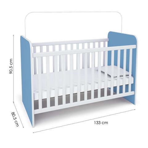 Imagem de Quarto Infantil Inocência II Azul e Branco