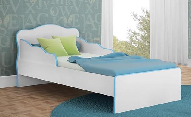 Imagem de Quarto Juvenil Completo Doce Sonho com Mini Cama Branco/Azul - Qmovi