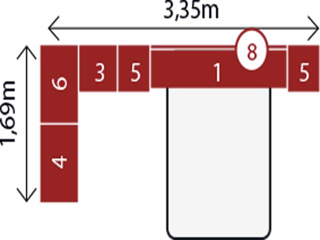 Imagem de Quarto Modulado de Casal Branco Completo Modena Guarda Roupa de Canto + Cabeceira - Demóbile