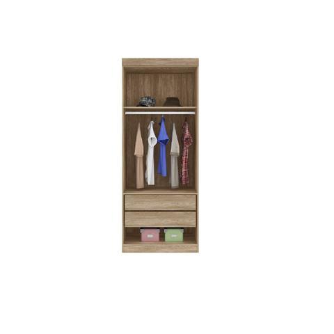 Imagem de Quarto Modulado de Casal Modena 9 Portas Nogal Painel Cabeceira + Guarda Roupa Armário - Demóbile