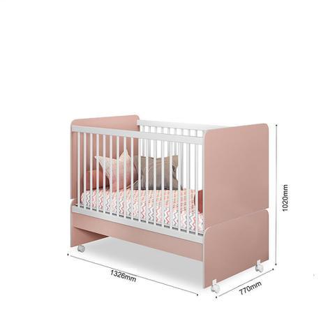 Imagem de Quarto para Bebê Helena com Guarda Roupa + Cômoda + Berço Mini Cama  - Phoenix