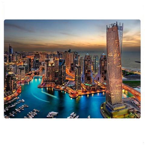 Imagem de Quebra-cabeça 1000 peças - Marina de Dubai - Paisagens Noturnas - Puzzle - Game Office